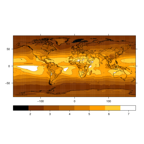 Maps of solar radiation